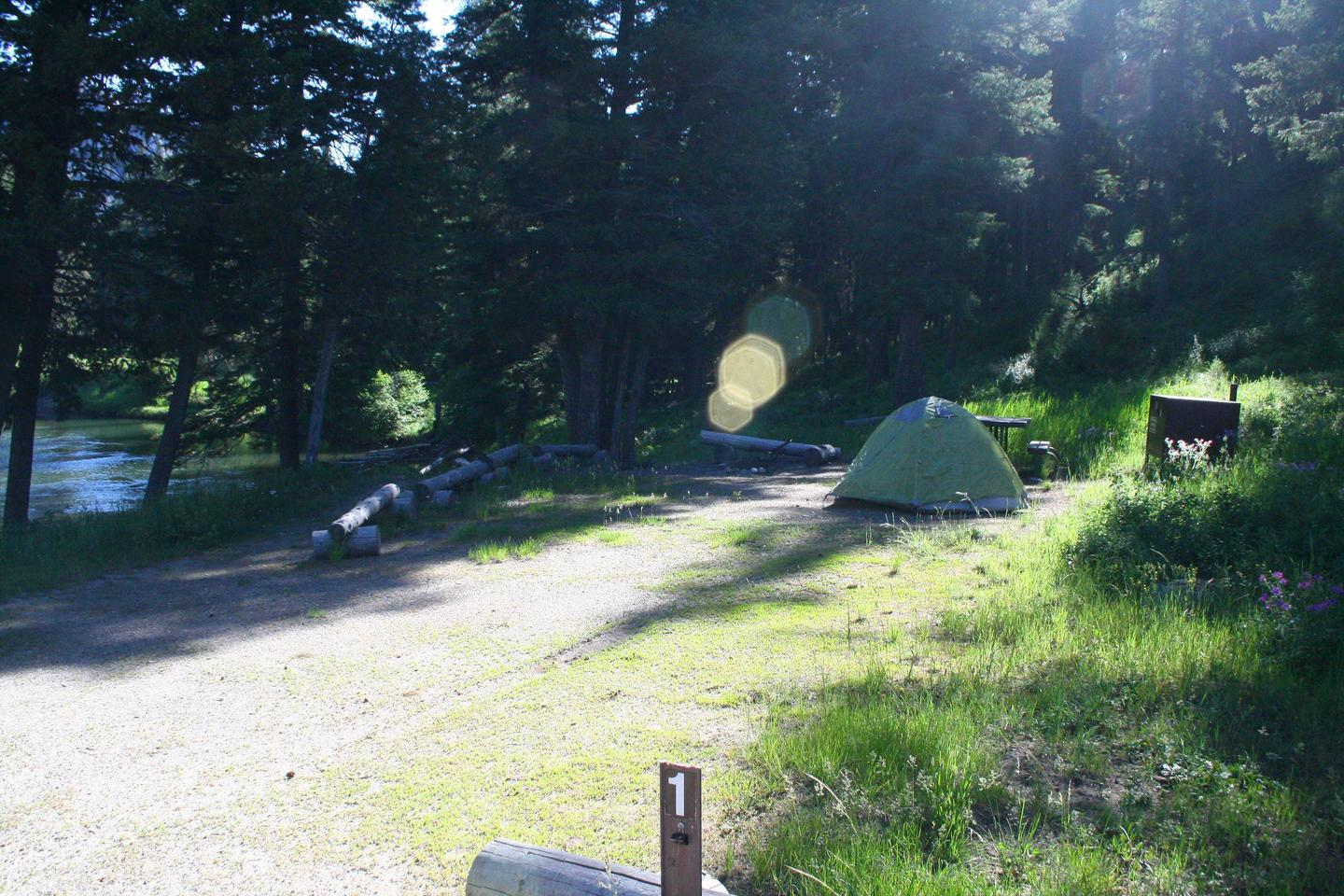 Slough Creek Campground Site #1....Slough Creek Campground Site #1