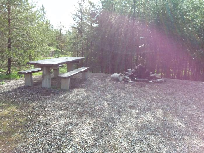 McGregor Lake Site 10-picnic table 2