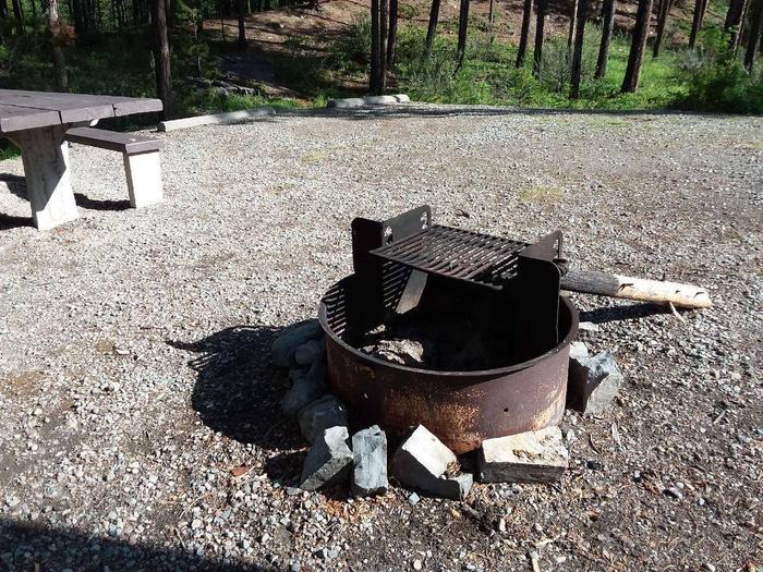 McGregor Lake Site 17-fire ring