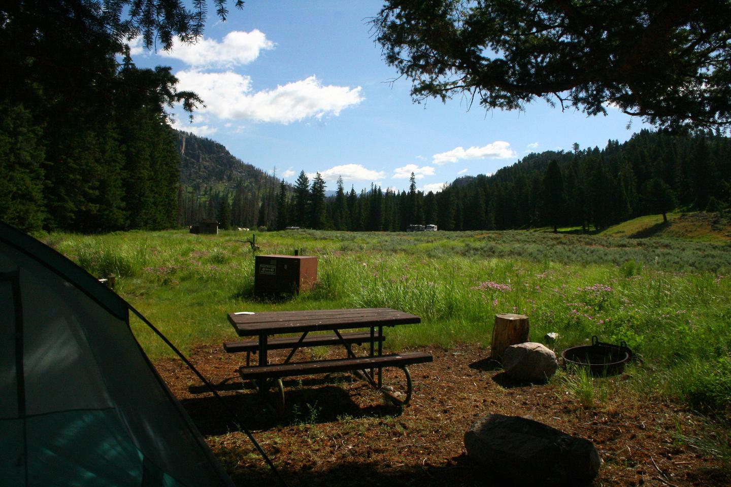 Slough Creek Campground Site #8....Slough Creek Campground Site #8