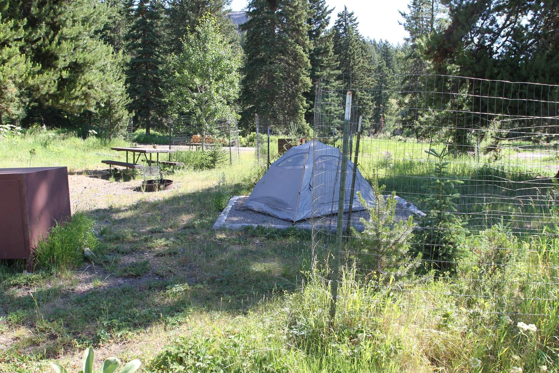 Pebble Creek Campground Site #3.Pebble Creek Campground Site #3