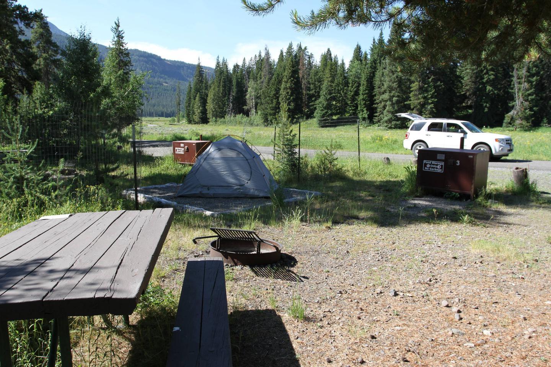 Pebble Creek Campground Site #3