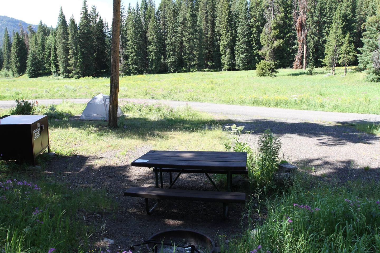 Pebble Creek Campground Site #7.Pebble Creek Campground Site #7
