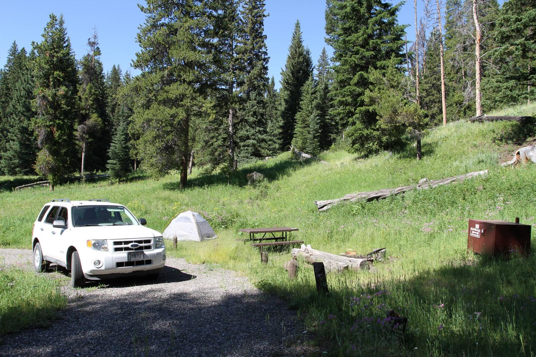 Pebble Creek Campground Site #8.Pebble Creek Campground Site #8