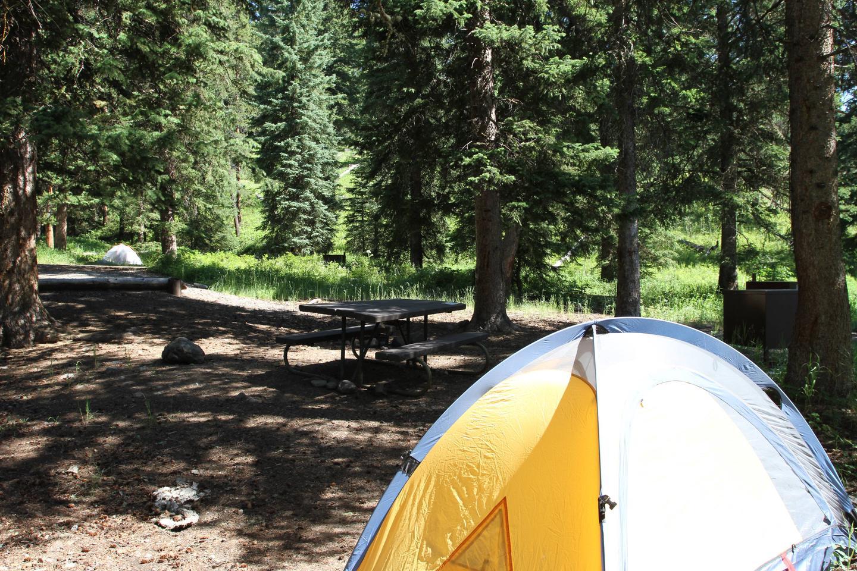 Pebble Creek Campground Site #10..Pebble Creek Campground Site #10