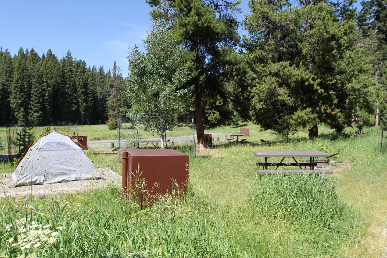 Pebble Creek Campground Site #13.Pebble Creek Campground Site #13