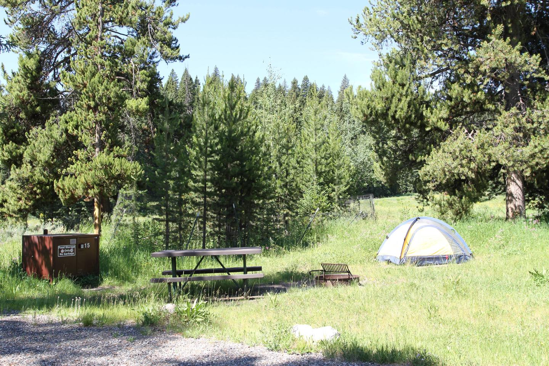 Pebble Creek Campground Site #15...Pebble Creek Campground Site #15