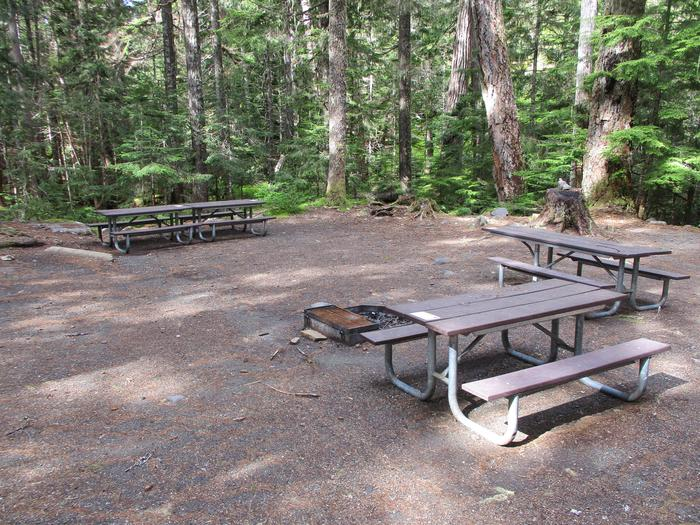 Picnic Table and Fire Ring