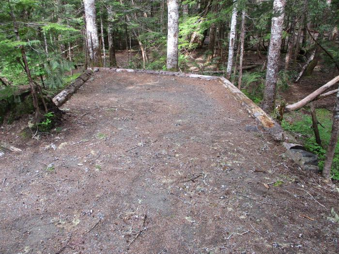 Another Tent Pad with level ground and fine gravel