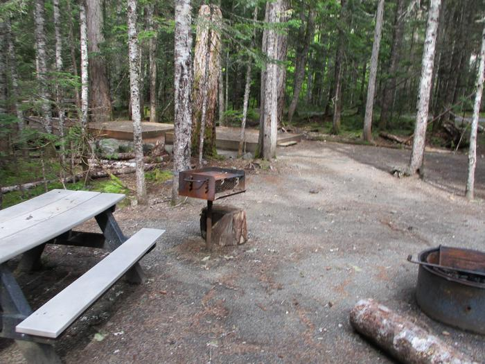 Picnic Table and fire rings