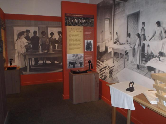 Boarding School exhibitsFort Spokane Visitor Center exhibits