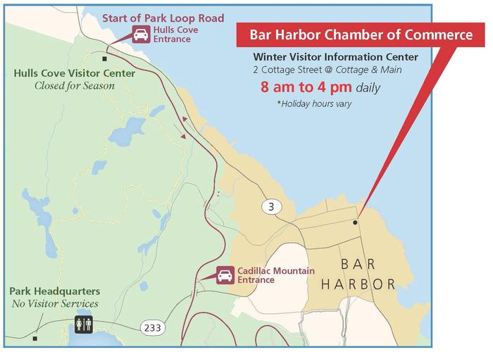 Local Map to Bar Harbor Chamber of Commerce