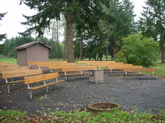 Amphitheater in the campground.Evening programs are typically held in the amphitheater every Saturday night in July and August.