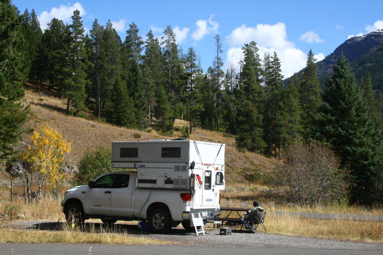 Pebble Creek Campground Site #18.Pebble Creek Campground Site #18