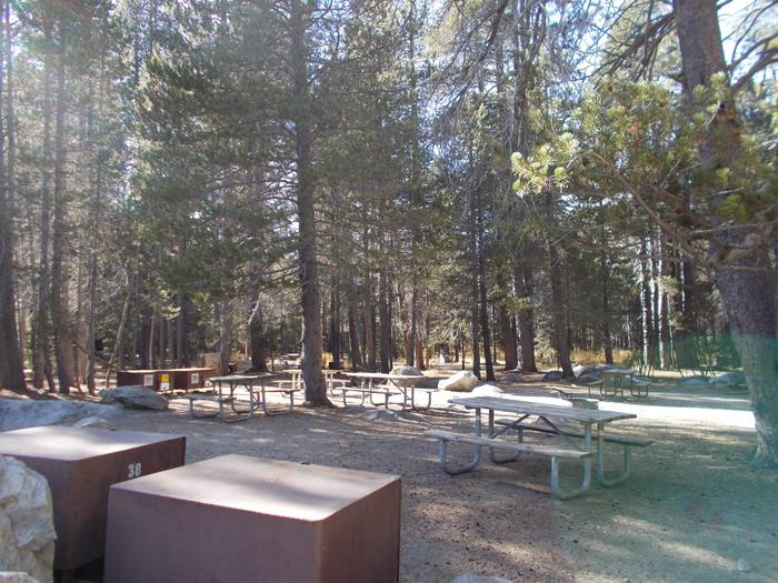 2 fire pits, 4 tables, 7 food locker (3 full-size, 4 small)Group Campsite B