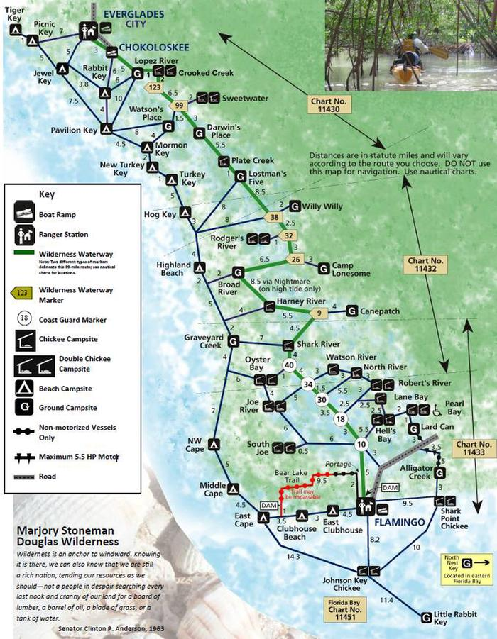 Wilderness Trip Planning MapTrip planning map used for planning itinerary