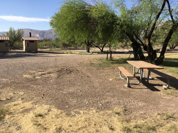 Cottonwood Site #18Near the restroom facilities