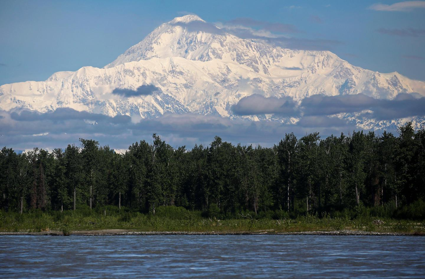 Denali ViewA short walk from the ranger station is the Talkeetna River, from which a great view of Denali can be found on clear days