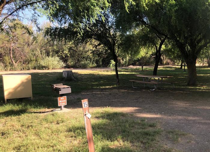 Site #15 Cottonwood Campground