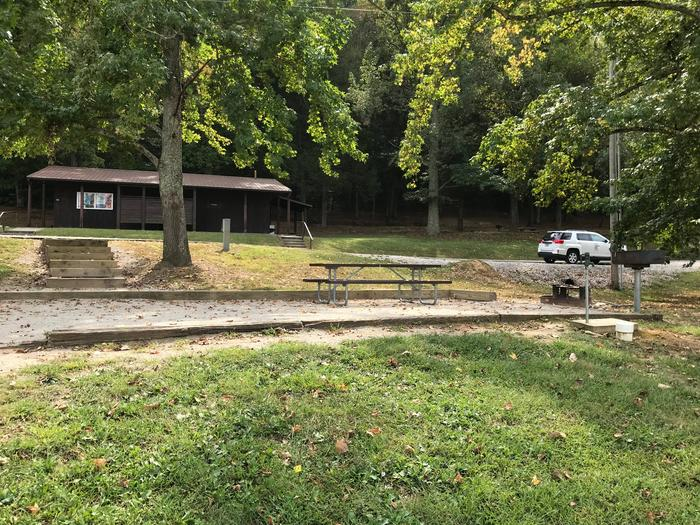 OBEY RIVER PARK SITE #111 VIEW OF SITE FROM LAKEOBEY RIVER PARK SITE #111