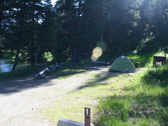 Sough Creek Campground Site #1Slough Creek Campground site #1 along Slough Creek