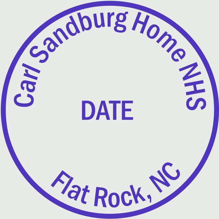 Carl Sandburg Home NHS Passport stampPark passport stamp