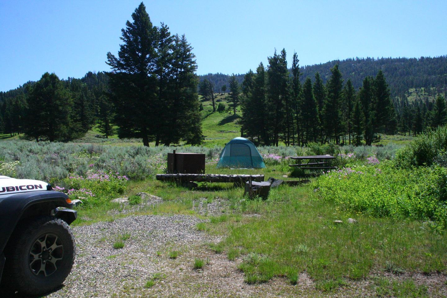 Slough Creek Campground site #15..Slough Creek Campground site #15