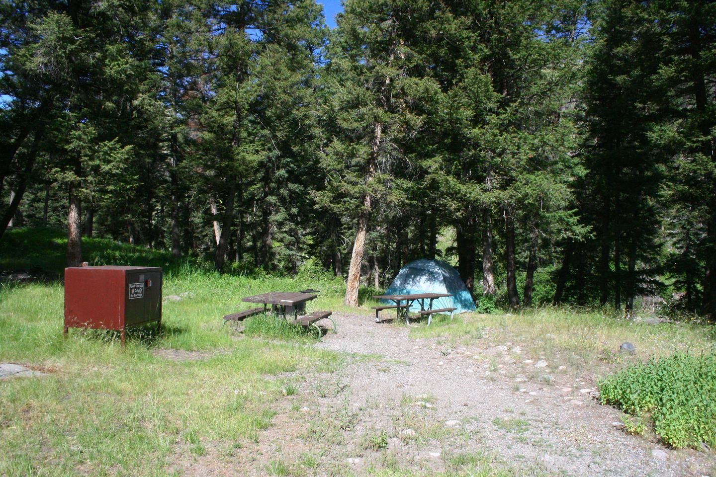 Slough Creek Campground site #12.Slough Creek Campground site #12