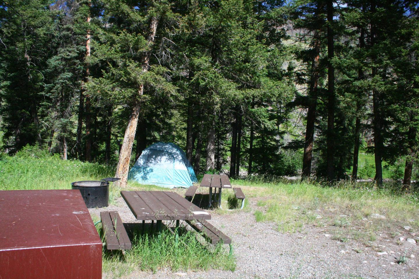 Slough Creek Campground site #12..Slough Creek Campground site #12