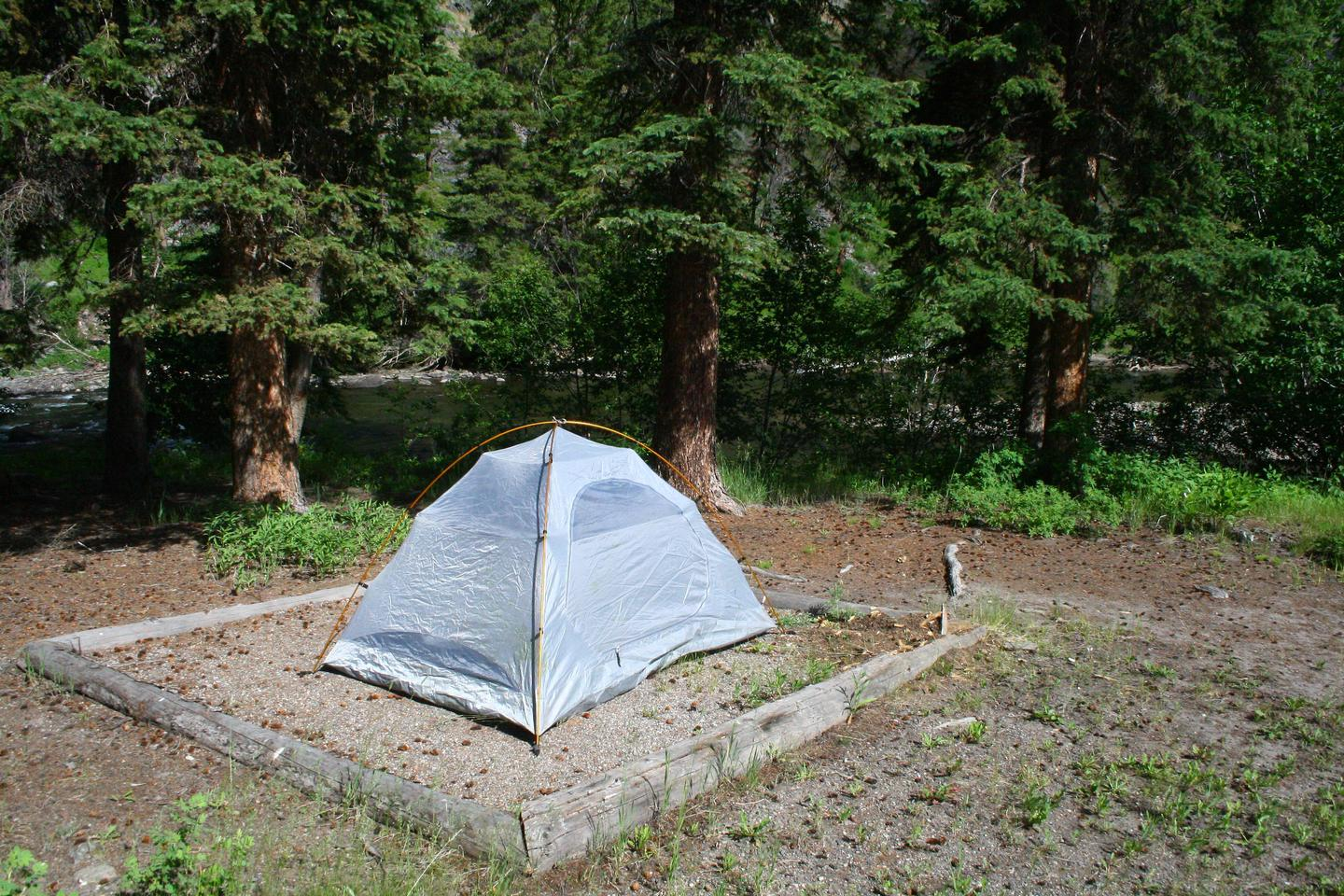 Slough Creek Campground site #11.Slough Creek Campground site #11