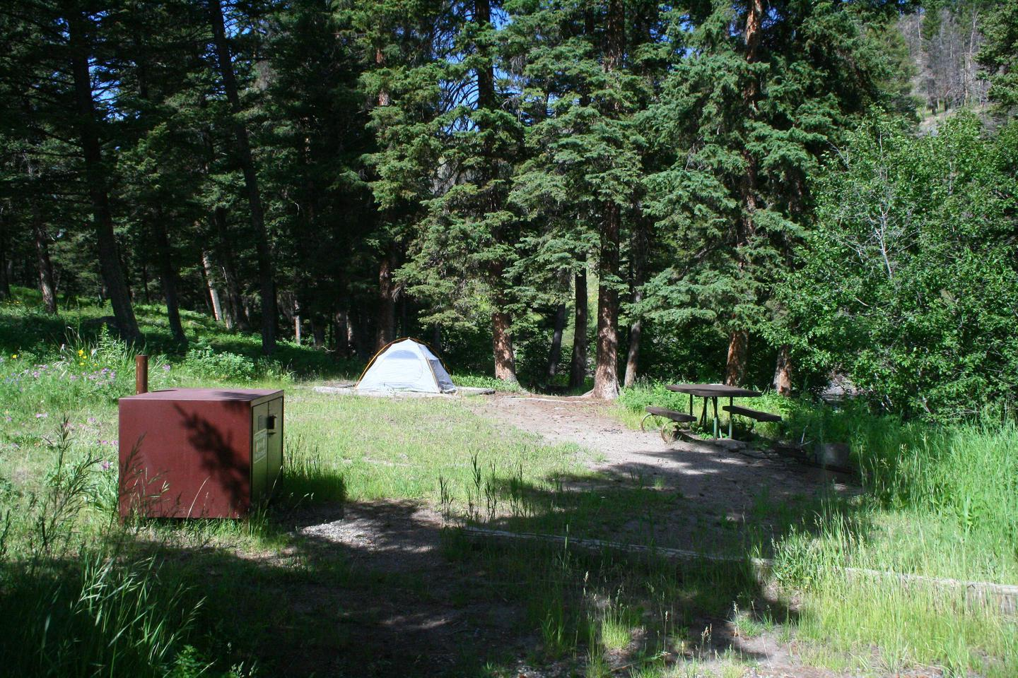 Slough Creek Campground site #11..Slough Creek Campground site #11