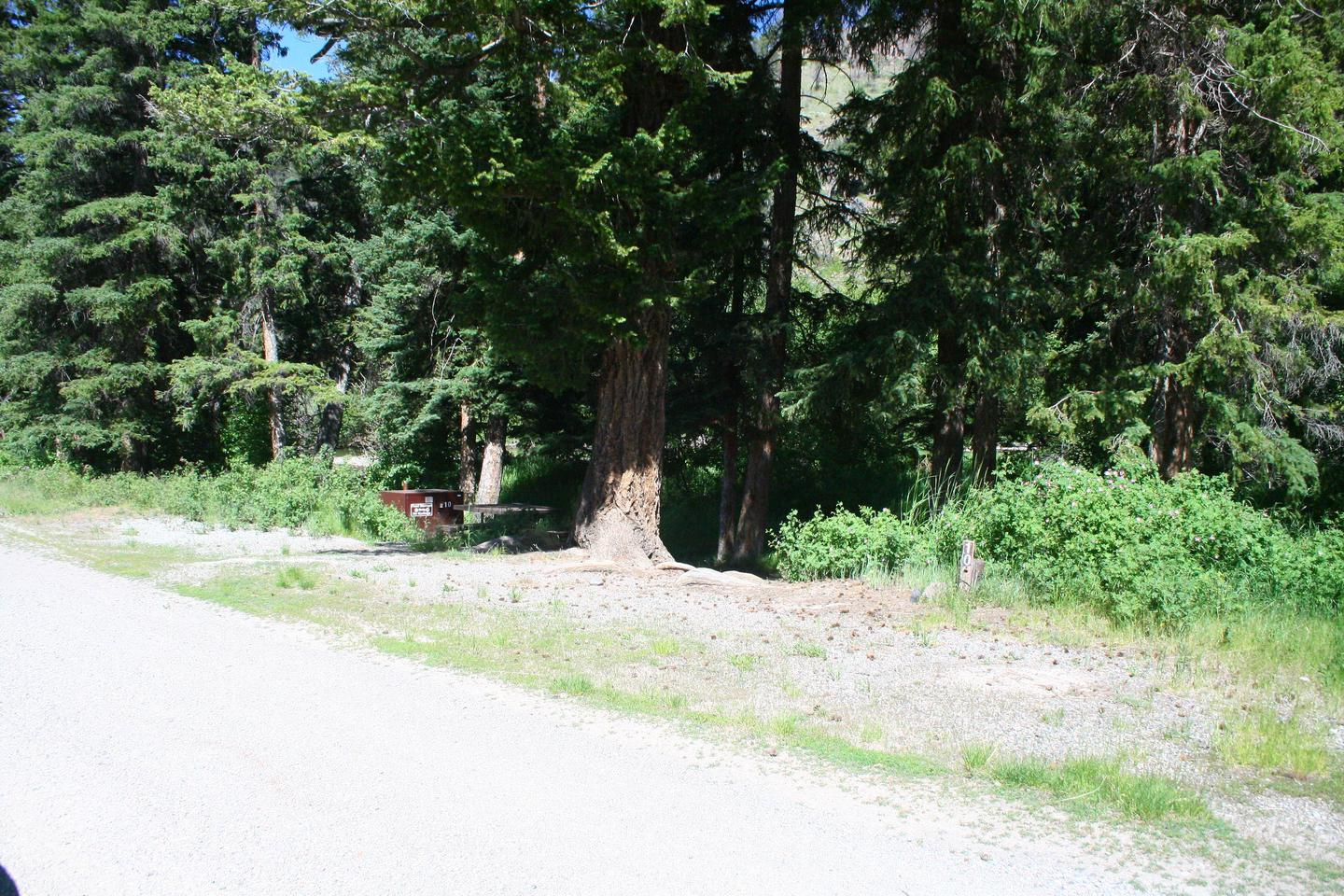 Slough Creek Campground site #10..Slough Creek Campground site #10