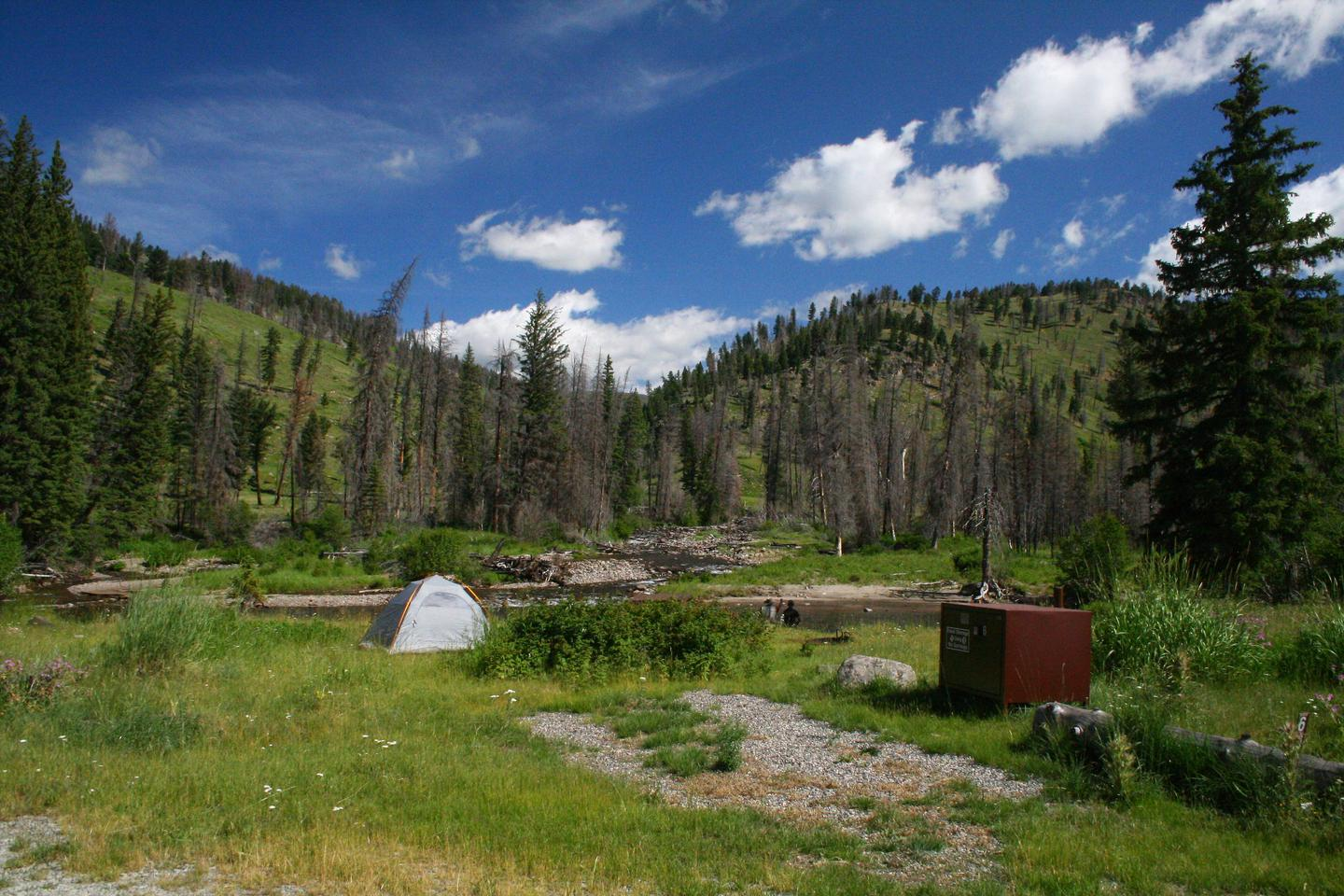 Slough Creek Campground site #6