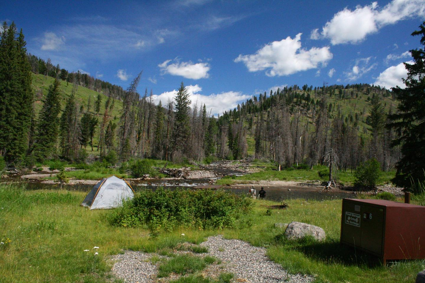 Slough Creek Campground site #6..Slough Creek Campground site #6