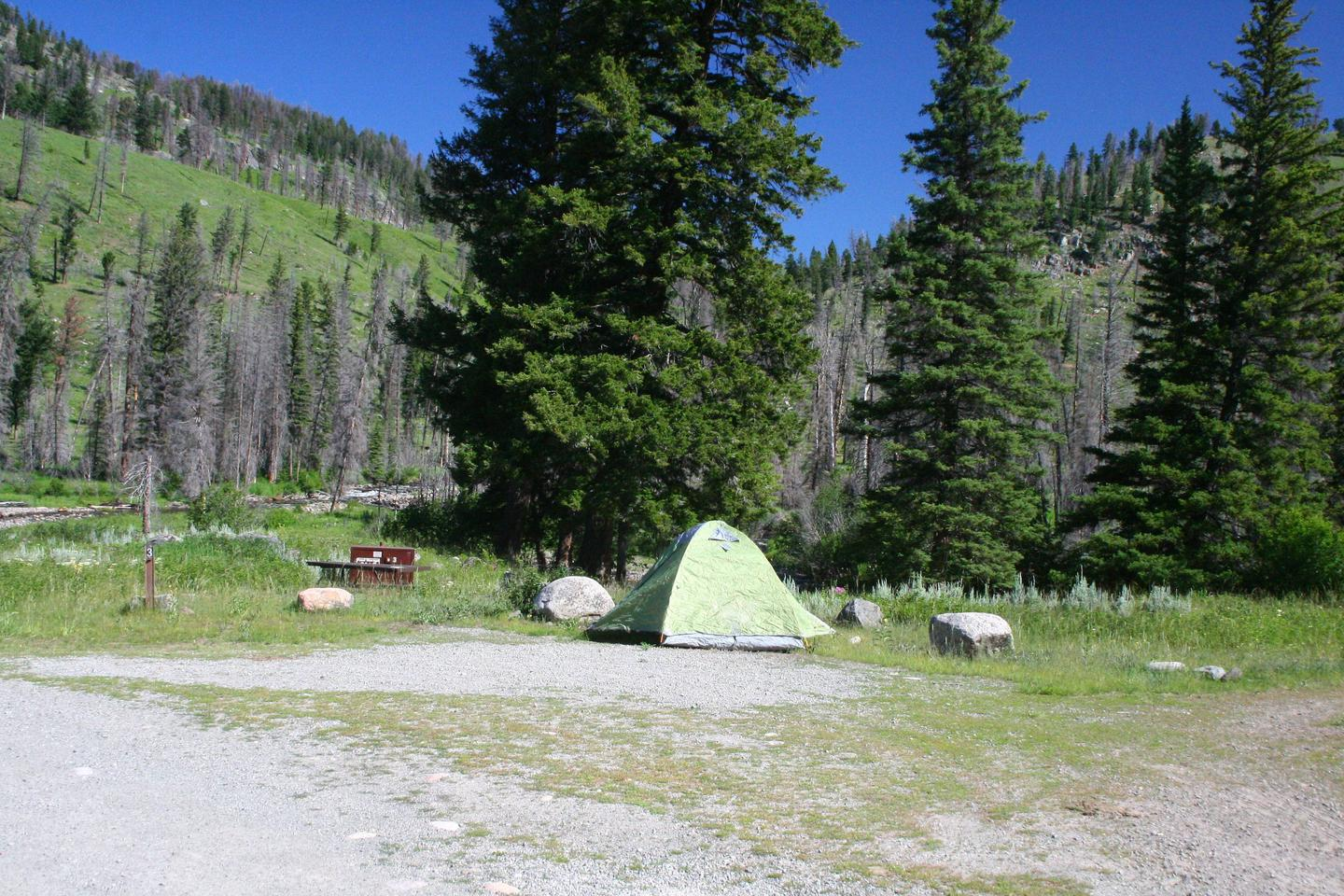 Slough Creek Campground site #3.Slough Creek Campground site #3
