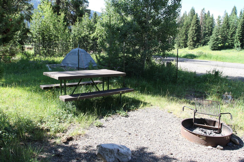 Pebble Creek Campground site #2.Pebble Creek Campground site #2