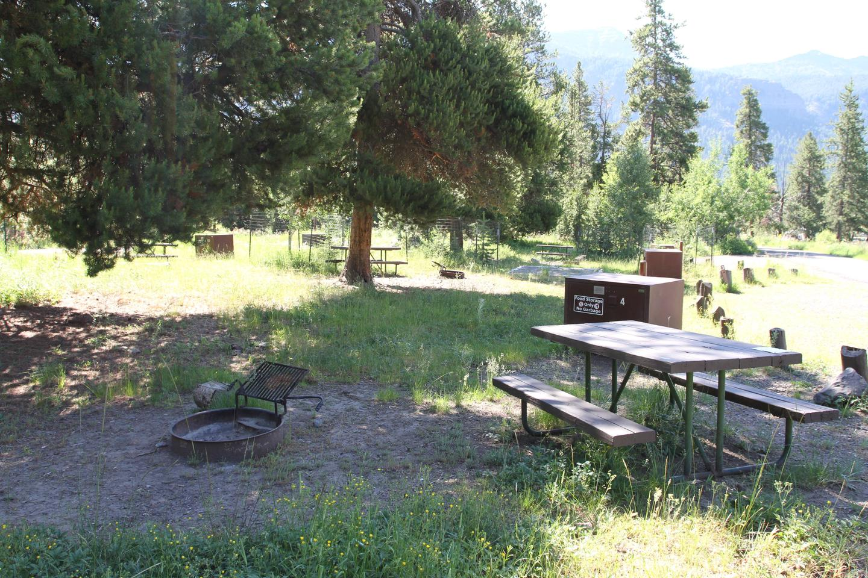 Pebble Creek Campground site #4