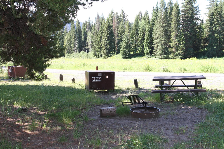 Pebble Creek Campground site #4.Pebble Creek Campground site #4