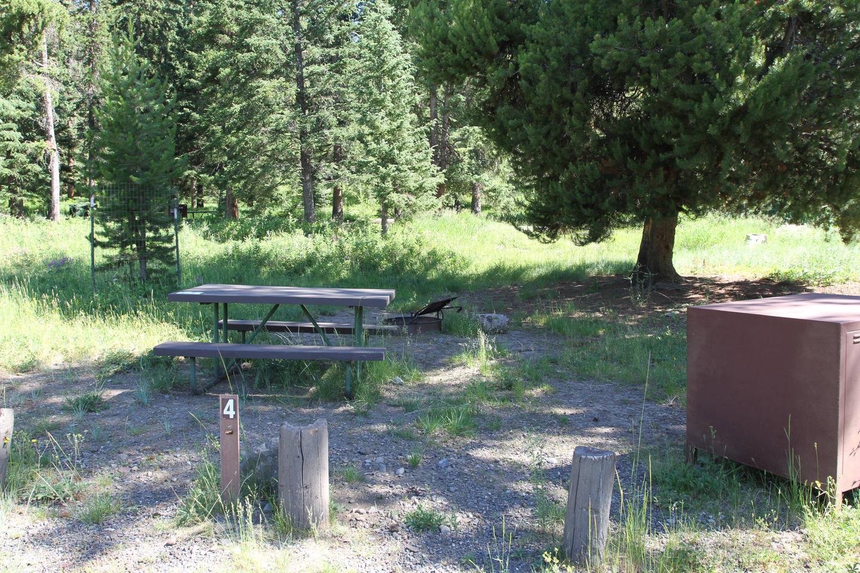 Pebble Creek Campground site #4..Pebble Creek Campground site #4