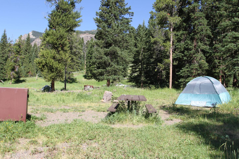 Pebble Creek Campground site #5