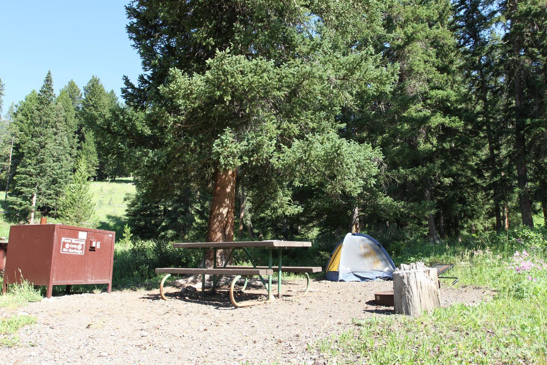 Pebble Creek Campground site #6.Pebble Creek Campground site #6