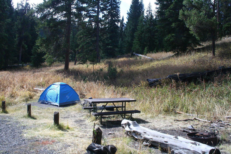Pebble Creek Campground site #8..Pebble Creek Campground site #8