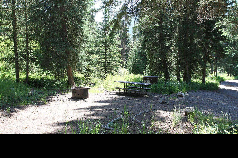 Pebble Creek Campground site #9.Pebble Creek Campground site #9