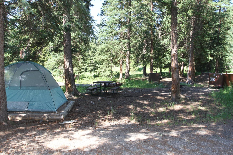 Pebble Creek Campground site #11