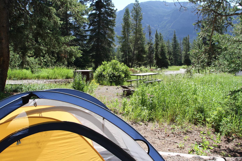 Pebble Creek Campground site #12