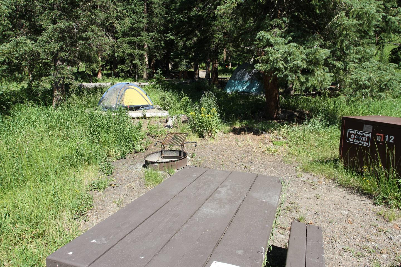 Pebble Creek Campground site #12.Pebble Creek Campground site #12