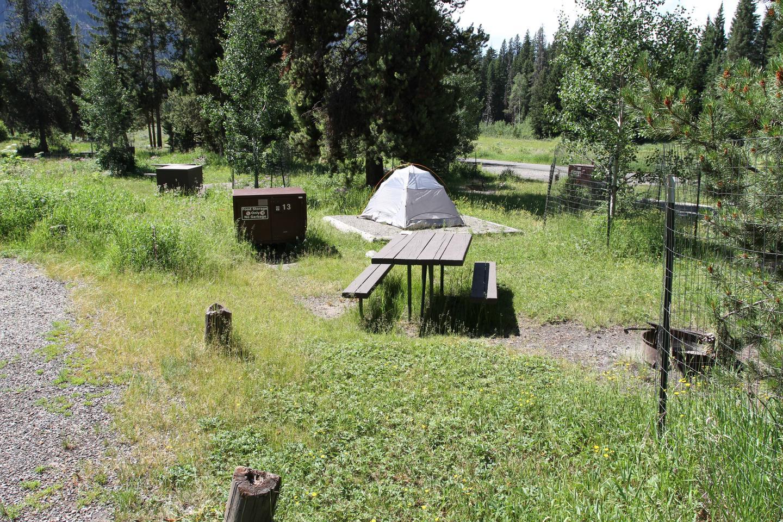 Pebble Creek Campground site #13...Pebble Creek Campground site #13