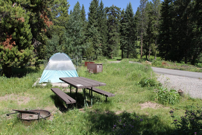 Pebble Creek Campground site #14.Pebble Creek Campground site #14