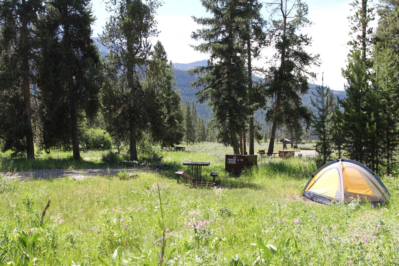 Pebble Creek Campground site #15..Pebble Creek Campground site #15