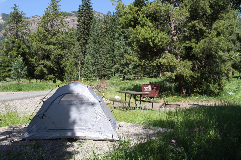 Pebble Creek Campground site #16